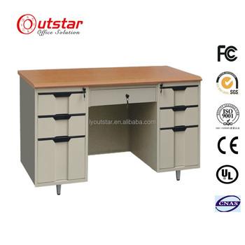 Metal Office Furniture Wood Top Computer Desk With Locking Drawers   Buy  Metal Office Furniture,Wood Top Computer Desk,Computer Desk With Locking ...