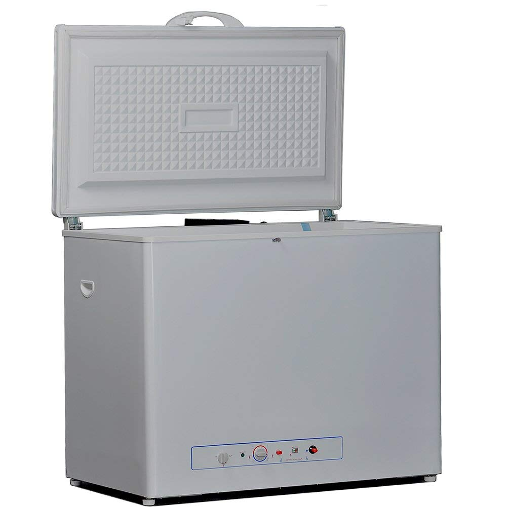 SMETA Absorption Chest Freezer Lockable Refrigerator 5.5 cu ft 110V/Propane Gas(not contain gas)