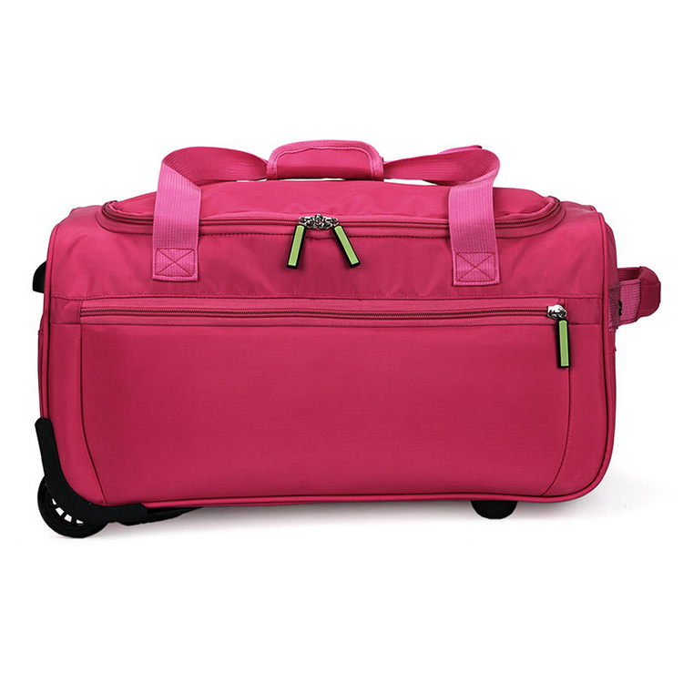 Large capacity travel bags folding luggage trolley bag