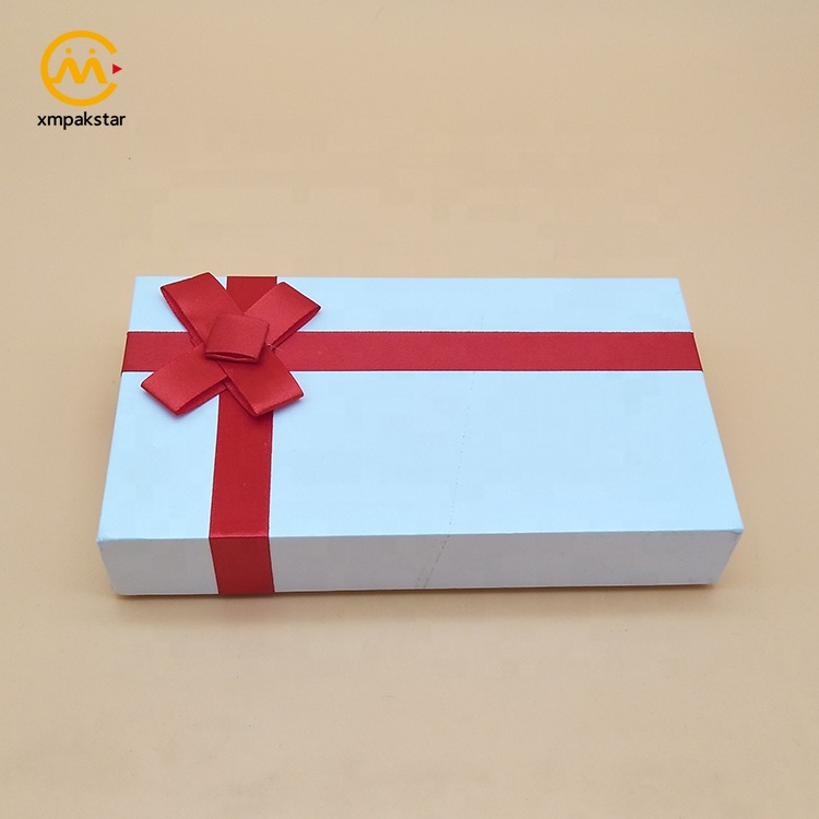 Custom design small white decoration cufflink keepsake cardboard gift box with foam insert