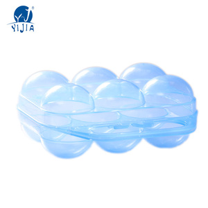 Plastic egg tray server for egg keeper and egg container