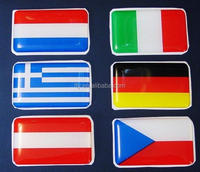 custom design national flag epoxy dome sticker