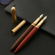 High Quality Luxury wood fountain pen Iraurita ink pen 0.7mm nib Caneta Stationery Office supplies with pen bag for gift