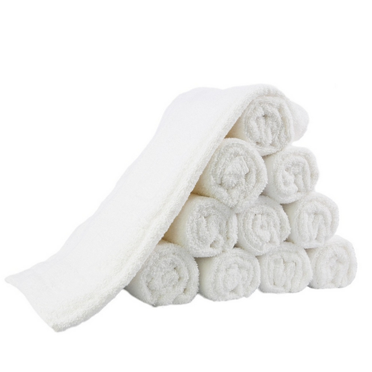 White luxury 100% cotton embroidered thin cotton bath towels