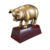 Small Sculpted Bronze Pig Trophy