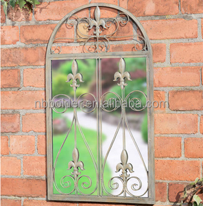 Vintage outdoor garden balcony metal frame decorative window mirror