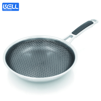 Honeycomb Cubic Nonstick Technology Stainless Steel Fry