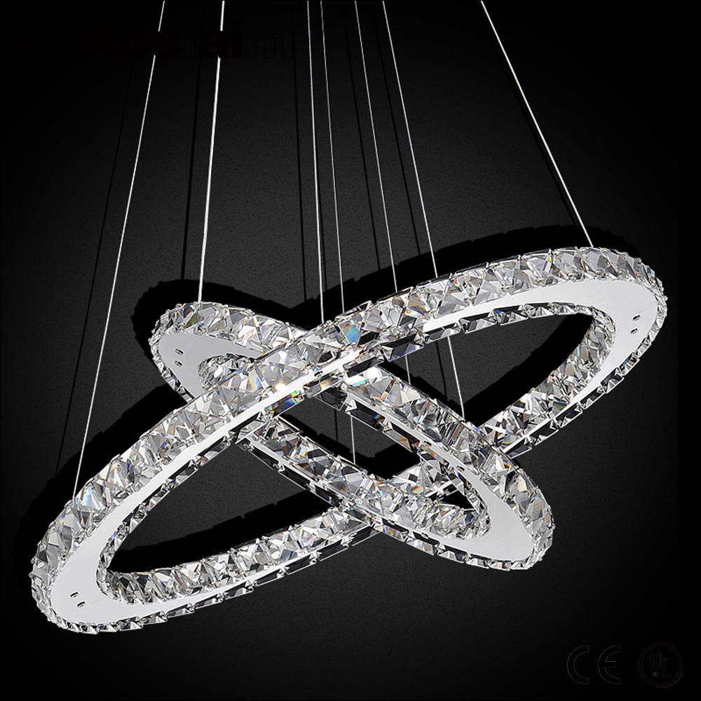contemporary unique round LED crystal chandelier for bedroom