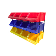 A4 stackable plastic spare parts vegetable storage bins wholesale