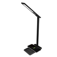 Newest hot sale indoor table lamp 5W led bed head reading light with wireless charger