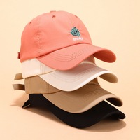 100% Cotton Custom 6 Panel Dad Hat, Embroidered Unstructured Dad Hat Custom