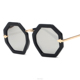 2016 unisex wholesale sunglasses Octagonal Frame Plain Mirror Glasses Special shaped sunglasses for trendstters