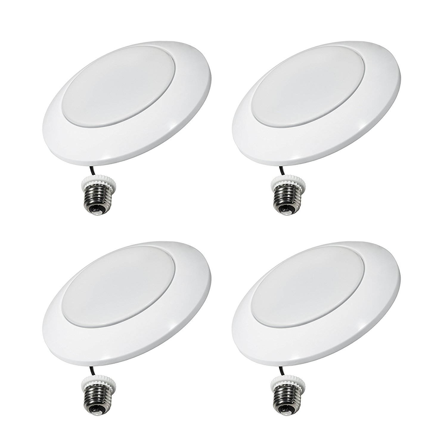 Thinklux LED Recessed Downlight Fixture Upgrade Kit, 13W (85 Watt Equivalent), 3000K (Warm White), Dimmable, Ultra-Thin Design, Energy Star (Pack of 4)