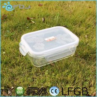 1100ML Food Storage Containers Glass Meal Prep