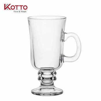 210ml Glass Irish Coffee Mug With Foot Cup Glass For Coffee Kotto Glass Buy Glass Coffee Mug With Lidcup Glass For Coffeeglass Latte Mug Product