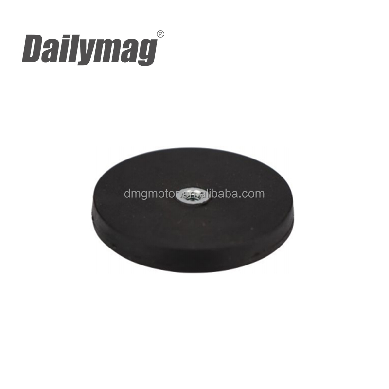 D43 66 88 mm Rubber Coated NdFeB Pot Magnet with Internal Thread