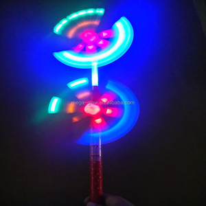 2015 hot toys for christmas 6 LED Double End Flashing Windmill Led flashing toy windmills