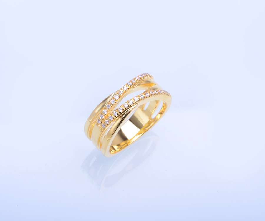 Dubai Gold Engagement Rings Gold Design For Girls Wholesale Ring