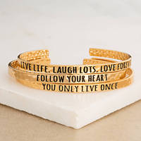 2018 New Arrive Gold Mantra Hammerd Bracelets Stainless Steel Inspirational Bracelet Bangles For Women Best Gifts Hot Selling