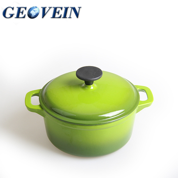 9inch Cast Iron Enamel Covered Dutch Oven Cooking Dish with Lid