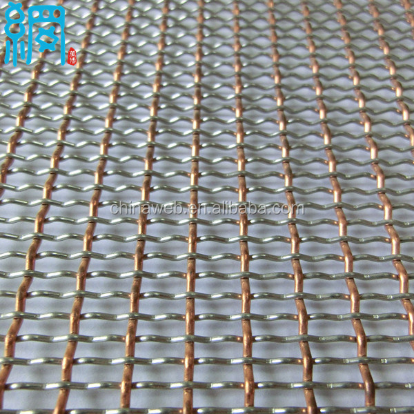 Carbon Steel/Aluminum/Stainless Steel Corrugated Wire Net (ISO9001 Factory)