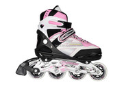 Plastic wheel roller skate shoes new , quality wheels and bearing ,4 size adjustable inline skate for kid