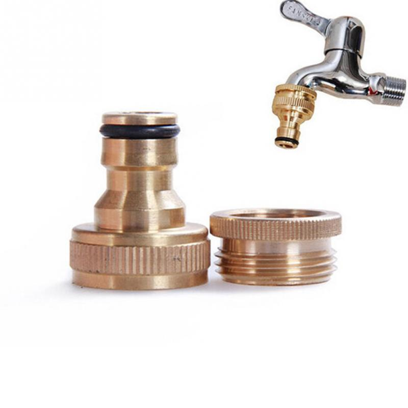 "1PC Household 3/4"" To 1/2"" Inch Brass Garden Faucet Water Hose Tap Connector Fitting"