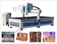 4axis cnc router machine with ATC/wood router with automatic tools change/spindle cnc carving