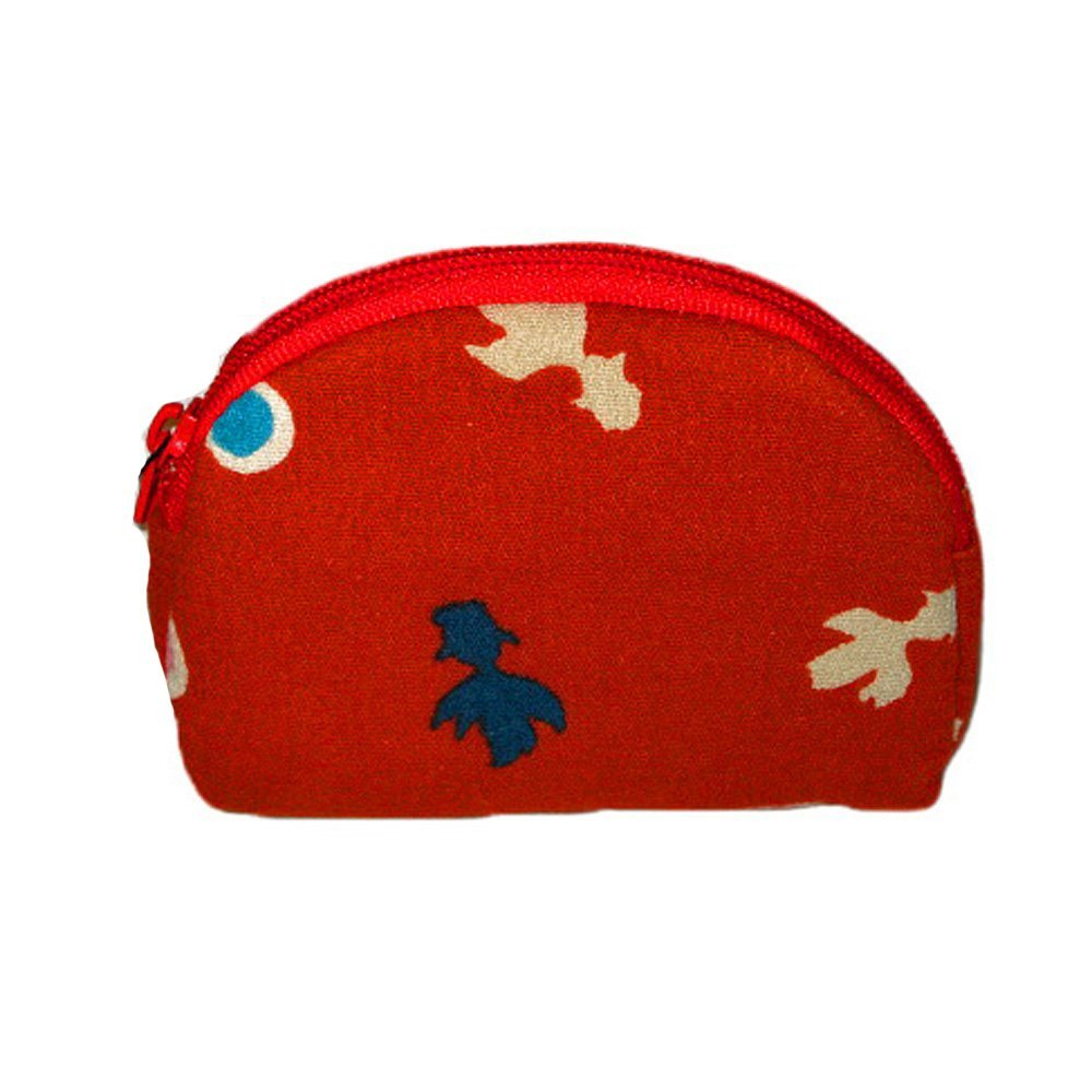 3037de2e3b Get Quotations · Goldfish Red Japanese Kimono Print Coin Purse