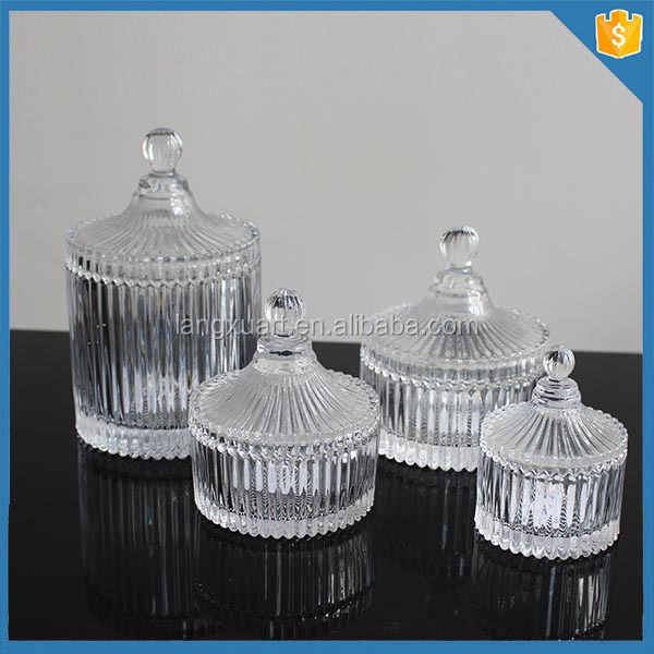 Greatest Lxhy-j021 Mini Ribbed Cylinder Crystal Glass Small Glass Jar With  OA83