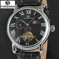Famous Brand FORSINING Hot Tourbillion Chinese Automatic Watch Movement Wholesale Moon Phase kol saati