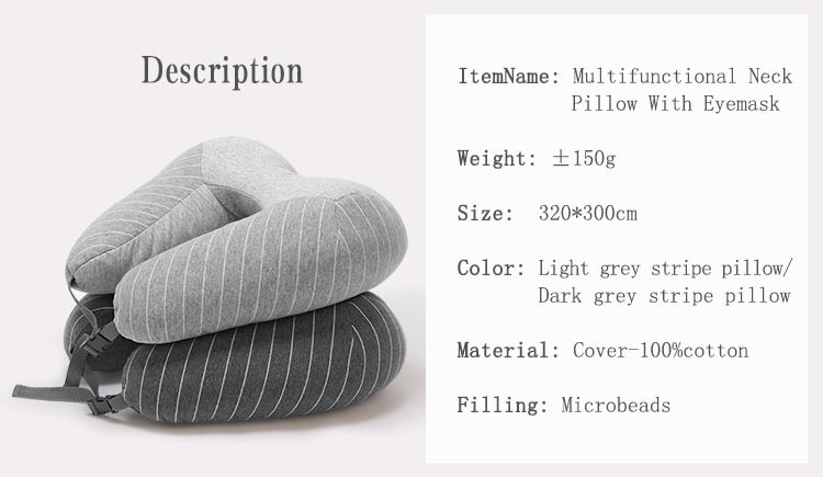 Hot Selling Microbead Travel U Shape Stock Neck Pillow