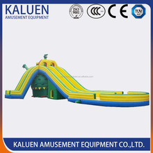 Amusement park giant inflatable jumping water slide for adult