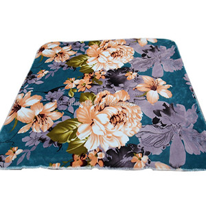 hot selling flower printed flannel fleece blanket for the USA japan market