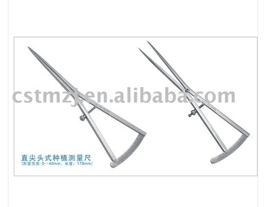 Bone Caliper/Dental Implant Gauge,Really pointed type/tooth forceps