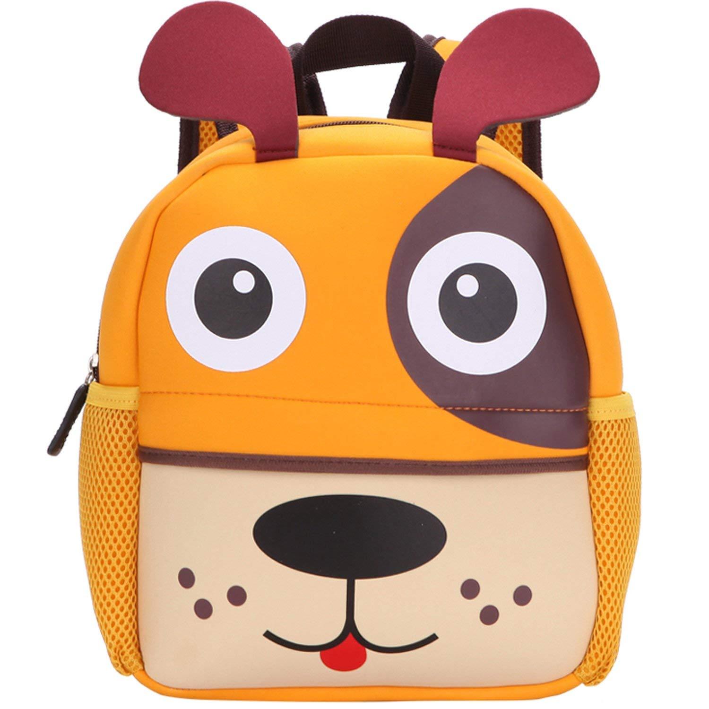 MODARANI 1-3Y Toddler Boys Girls Cute Zoo Animal Daycare Backpack Cartoon Gift Bag Pet Dog Printed (dog)