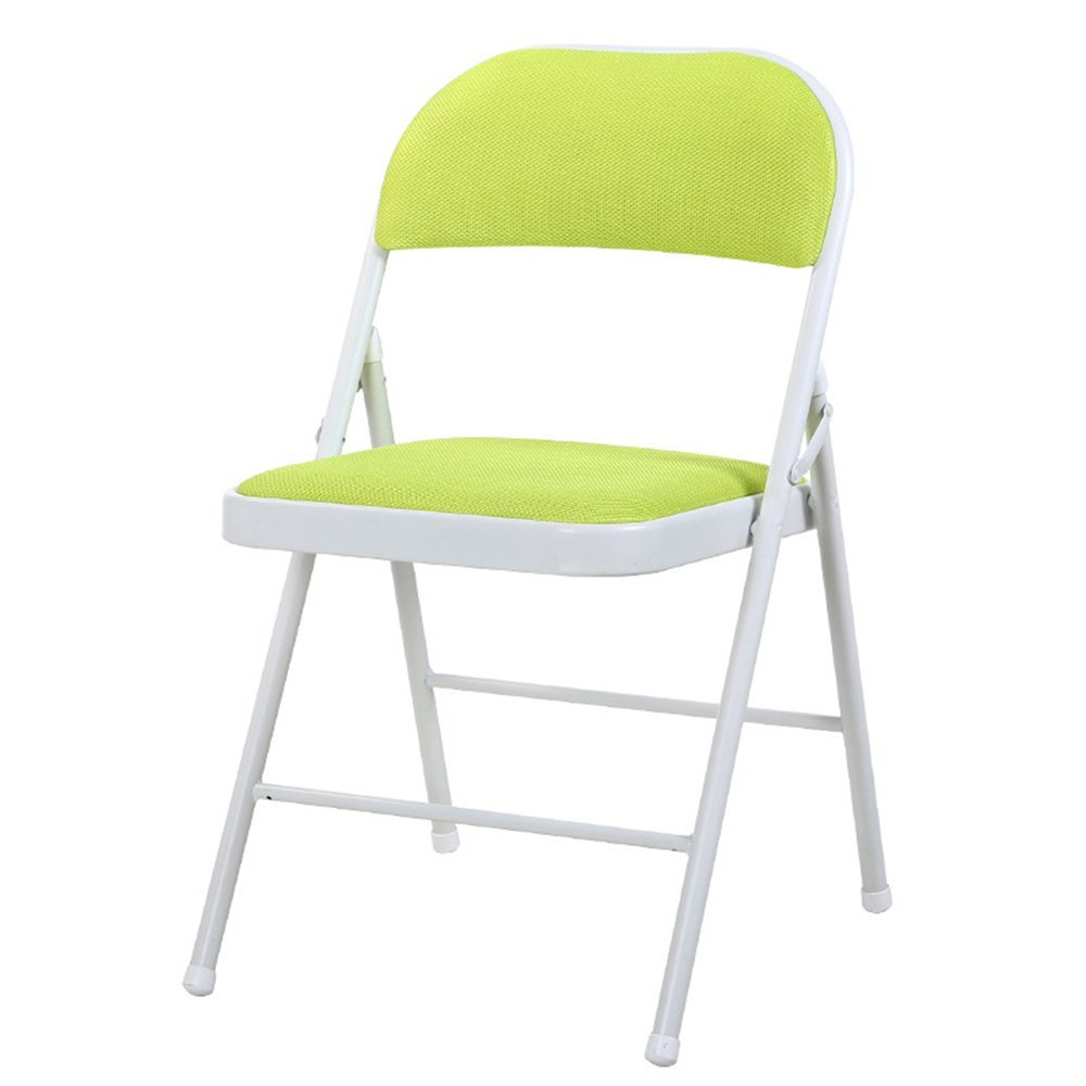 Breathable dining chair / backrest computer chair / casual folding chair / dorm chair / conference chair ( Color : Green )