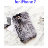 Soft Rabbit Fur Protective Back Cover for iPhone 7