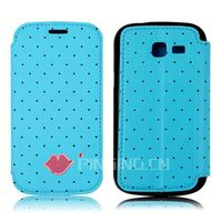 Sexy lips phone accessory leather cover for Samsung Galaxy Round G910 flip case