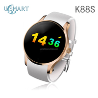 Oem factory china usmart K88h smartwatch mtk 2502 watch phone round custom mobile watch cheap phone online in the France usmart