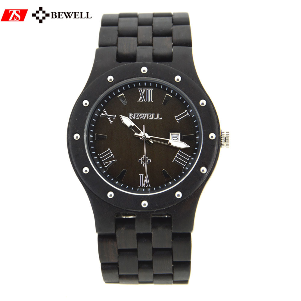 Natural Black ebony design your own wooden watches