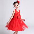 3 12T girls dresses summer 2016 fashion temperament girl sweet princess dress quality sundress red and