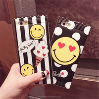 Amazon hotselling phone shell for iPhone 7 case for iPhone 7 funny painting smile candy phone case