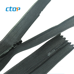 Factory whosale custom manufacturer provide high quality high quality open end reversible invisible zipper for sale