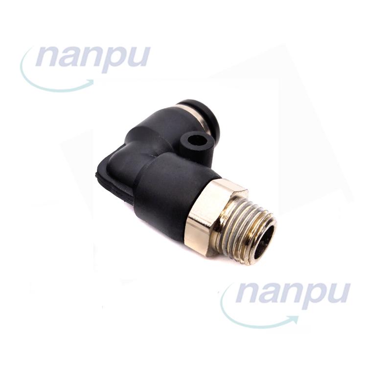 3//8 BSPT Rosca Macho 90 grados tubo de codo rápida Accesorios neumática 12 mm PL12-03