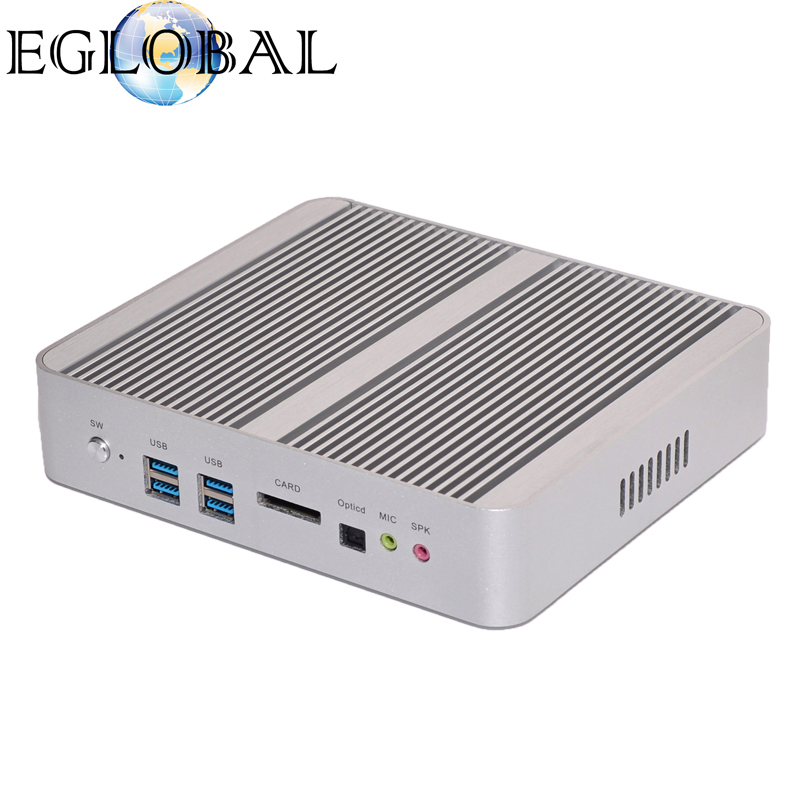 Cheap mini pc intel core i5 5200u with 2 lan port vga mini pc 8G RAM 256G SSD dual