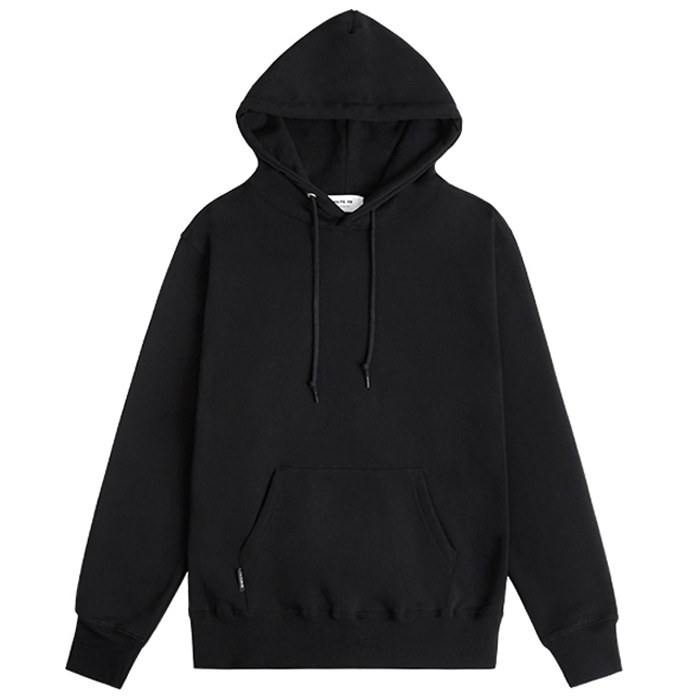 Wholesale custom high quality 100% Cotton blank plain hoodies mens hoody black hoodies