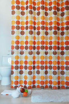 Lead Or Magnet Weighted At Bottom Metal Eyelets Shower Curtain
