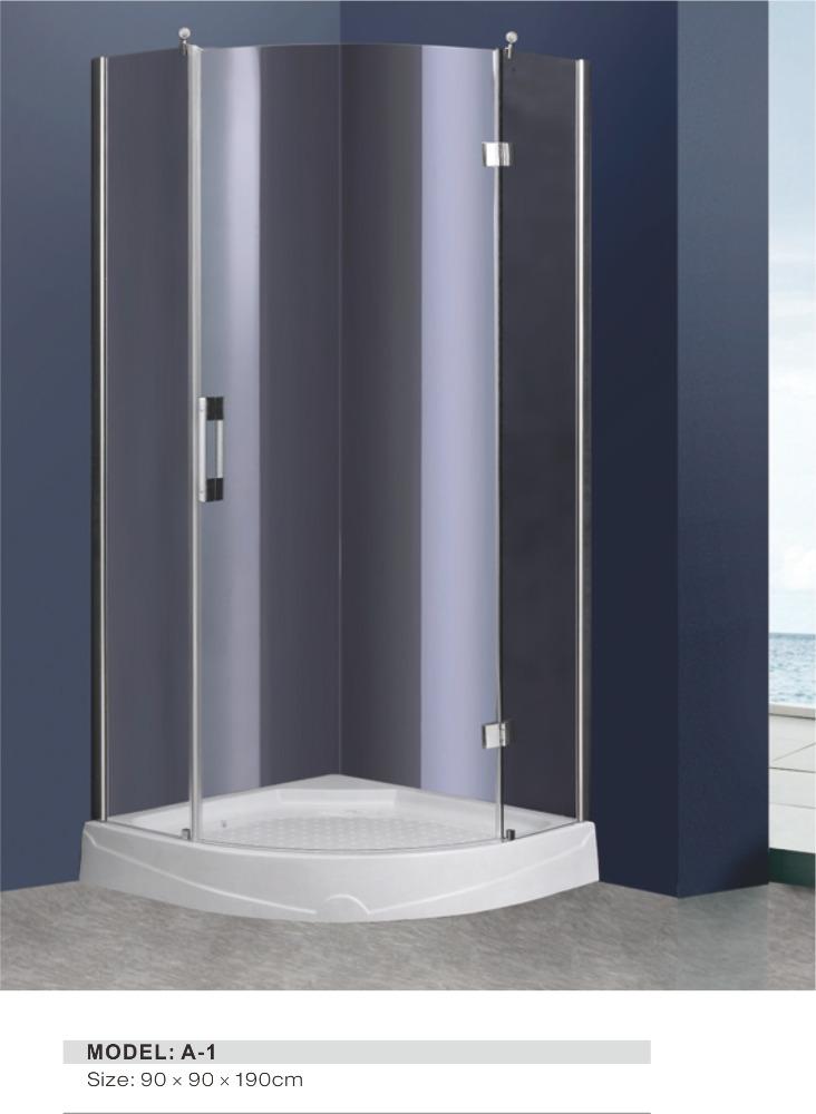 style de luxe en aluminium profil salle de bains coin mont cabine de douche - Salle De Bain De Luxe Cabine Au Coin
