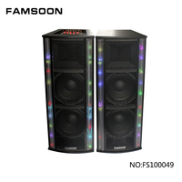 "Pair Dual 15"" PA DJ SPEAKERS Wholesale high quality stage dancing speaker for sale iran"